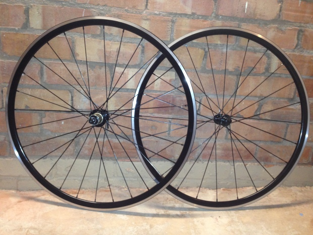 Some lightweight road wheels I built - under 1500g for under £300 in parts!